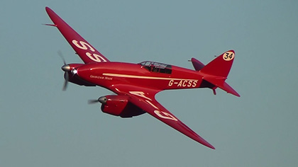"DH.88 Comet ""Grosvenor House"" at Old Warden Preview"